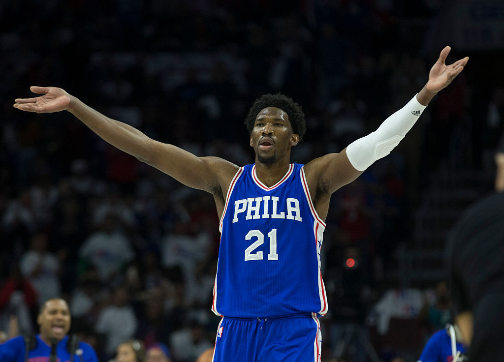 Joel Embiid profanely expressed his frustration with the 76ers' minutes restriction