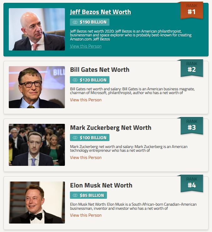 for the first time ever elon musk is now the 4th richest person on the planet celebrity net worth celebrity net worth